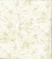 Keepsake Calico Cotton Fabric-Tonal Vine Cream, , hi-res