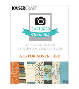 "Captured Moments Double-Sided Cards 3""X4"" 48/Pkg-A Is For Adventure"