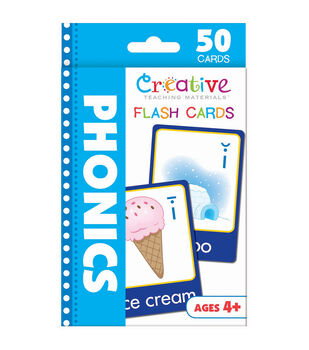Creative Teaching Materials 50ct Flash Cards-Phonics