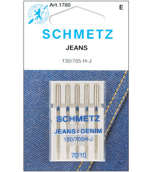 Schmetz Denim/Jeans Machine Needles 5/Pk-Several Sizes