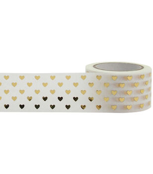 Little B Foil Tape 25mmX10m-Gold Hearts