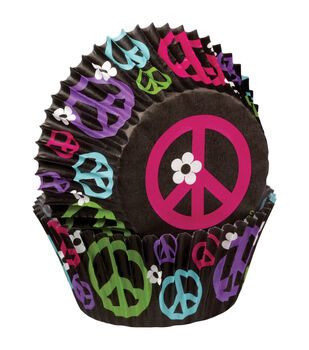 Wilton® Standard Baking Cups-Peace 75/Pkg