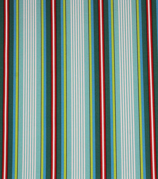 Solarium Outdoor Fabric-Pond Stripe Caribe