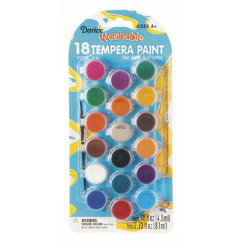 Washable Tempera Paint Pot Pack, 18-Pack