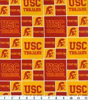 University of Southern California NCAA Block Cotton Fabric, , hi-res