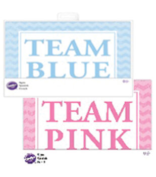 2pk Team Pink/Blue Baby Shower Signs