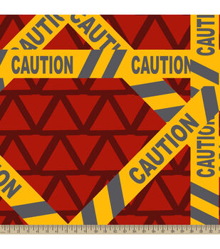 """72"""" No Sew Throw-Caution"""