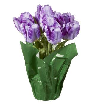 Es Tulip In Pot Purple