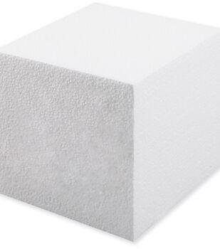 "Plasteel Corp Smooth Foam Cube 5"" 1Pk-White"