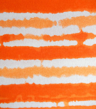 Snuggle Flannel Fabric-Sun Orange Stripe Tiedye