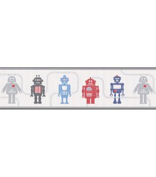 Robot League Border Silver Robots Wallpaper Border Sample