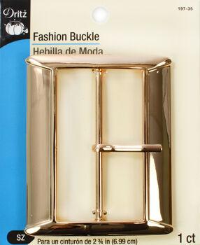 "Dritz Fashion Buckle Gold  2 3/4"""