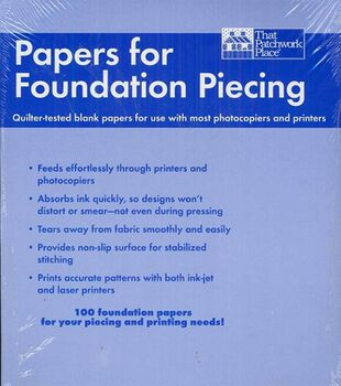 "That Patchwork Place-Blank Foundation Papers-8-1/2""x11"" 100/Pkg"
