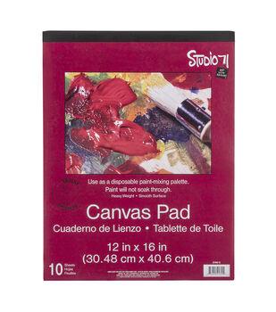 "Art Alternatives Canvas Pad 12""X16""-10 Sheets"