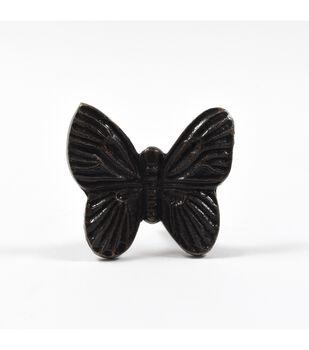 Dritz Home Cast Iron Butterfly Knob-Bronze