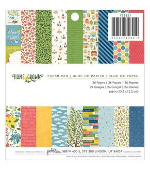 Pebbles Homegrown Paper Pad 6''x6''