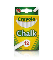 Crayola Chalk-White 12/Pkg, , hi-res