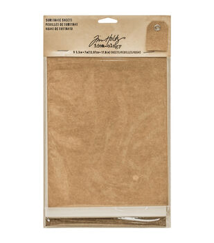 """Tim Holtz Idea-Ology Substrate Sheets 5.5""""X7"""" 9/Pkg-3 Each Of 3 Colors; Kraft, White & Brown"""