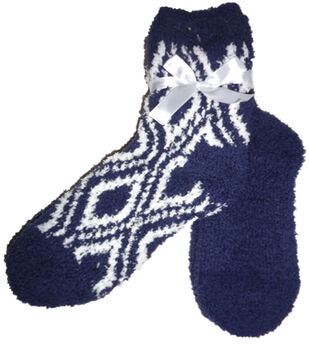 Diamond Navy & White Tactile Sock