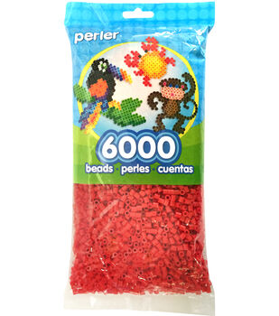 Perler Beads 6,000 Count-Red
