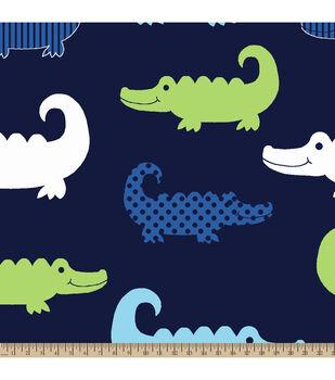 Blizzard Fleece Fabric-Alligator
