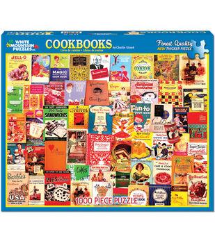 White Mountain Puzzles 1000 Pieces 24''x30'' Jigsaw Puzzle-Cookbooks