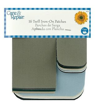 Dritz® Assorted Iron-On Twill Patches-16/Pkg