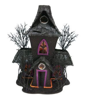 Maker's Halloween LED Spooky House-Black