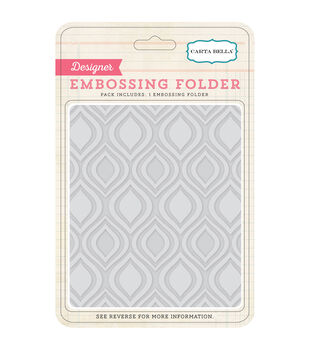 Carta Bella Ogee Embossing Folder 5''x5.875''