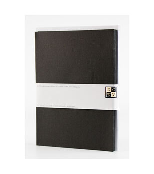 DCWV A7 12 pack card and envelope set: Black cards