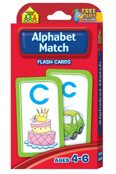 Flash Cards-Alphabet Match 52/Pkg