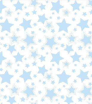 Nursery Fabric - Starry Night Blue Flannel