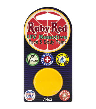 Ruby Red Face Paint .14oz-UV Yellow