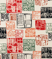 Alexander Henry Cotton Fabric-Shinto Red                              , , hi-res