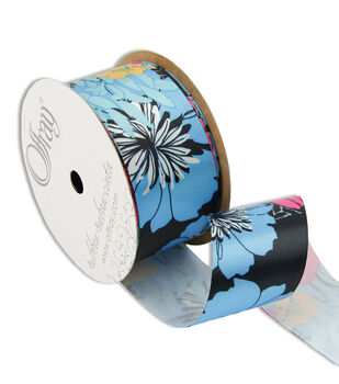 """Offray Tropical Blooms 1-1/2"""" Ribbon"""