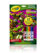 Crayola Coloring And Activity Pad W/Markers-Teenage Mutant Ninja Turtles, , hi-res