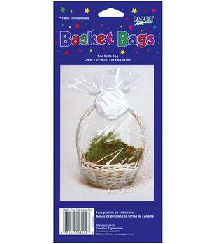 "Cellophane Basket Bag 24""X25"" 1/Pkg-Clear"