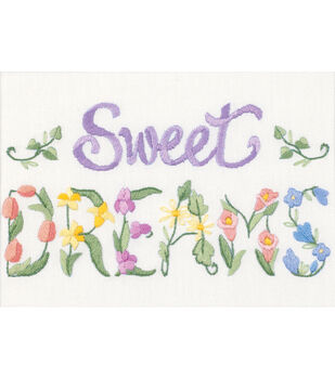 Dimensions Flowery Sweet Dreams Mini Crewel Kit
