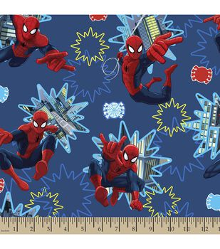 Marvel Spiderman Photo Burst Cotton Fabric