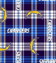 San Diego Chargers  NFL Plaid Fleece Fabric, , hi-res