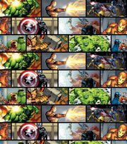 Marvel's The Avengers Comic Patch Cotton Fabric, , hi-res