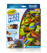 Crayola® Color Wonder Teenage Mutant Ninja Turtles Metallic Coloring Pages&Markers, , hi-res