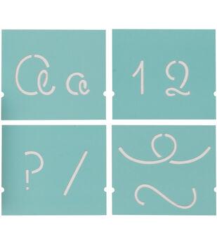 "Martha Stewart Alphabet Stencil 48/Pk-Looped Script-Font Size 1-1/2"""