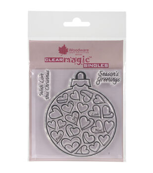 Woodware Craft Collection Clear Magic Stamp-Love Bauble