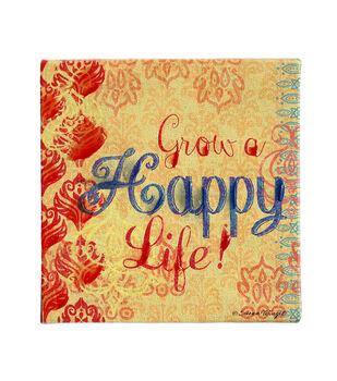 Susan Winget Boho Grow A Happy Life Hand Embellished Canvas