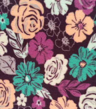 Anti-Pill Fleece Fabric-Meredith Floral