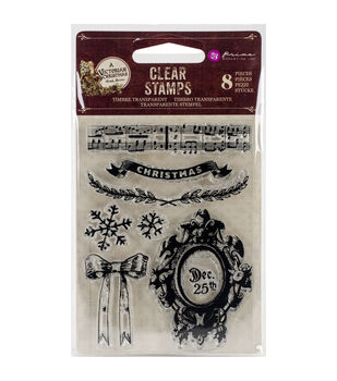 Prima Marketing A Victorian Christmas Clear Stamps-Framed Dec. 25th