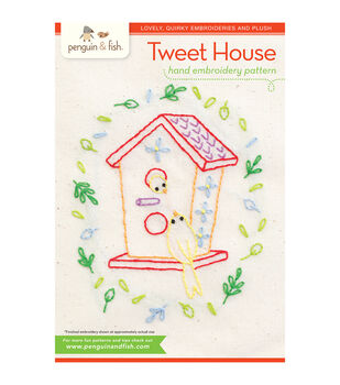 Penguin & Fish Embroidery Patterns-Tweet House