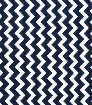 Quilter's Showcase™ Cotton Fabric-Chevron Navy/White