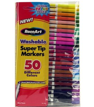 RoseArt Washable Super Tip Markers-50 ct